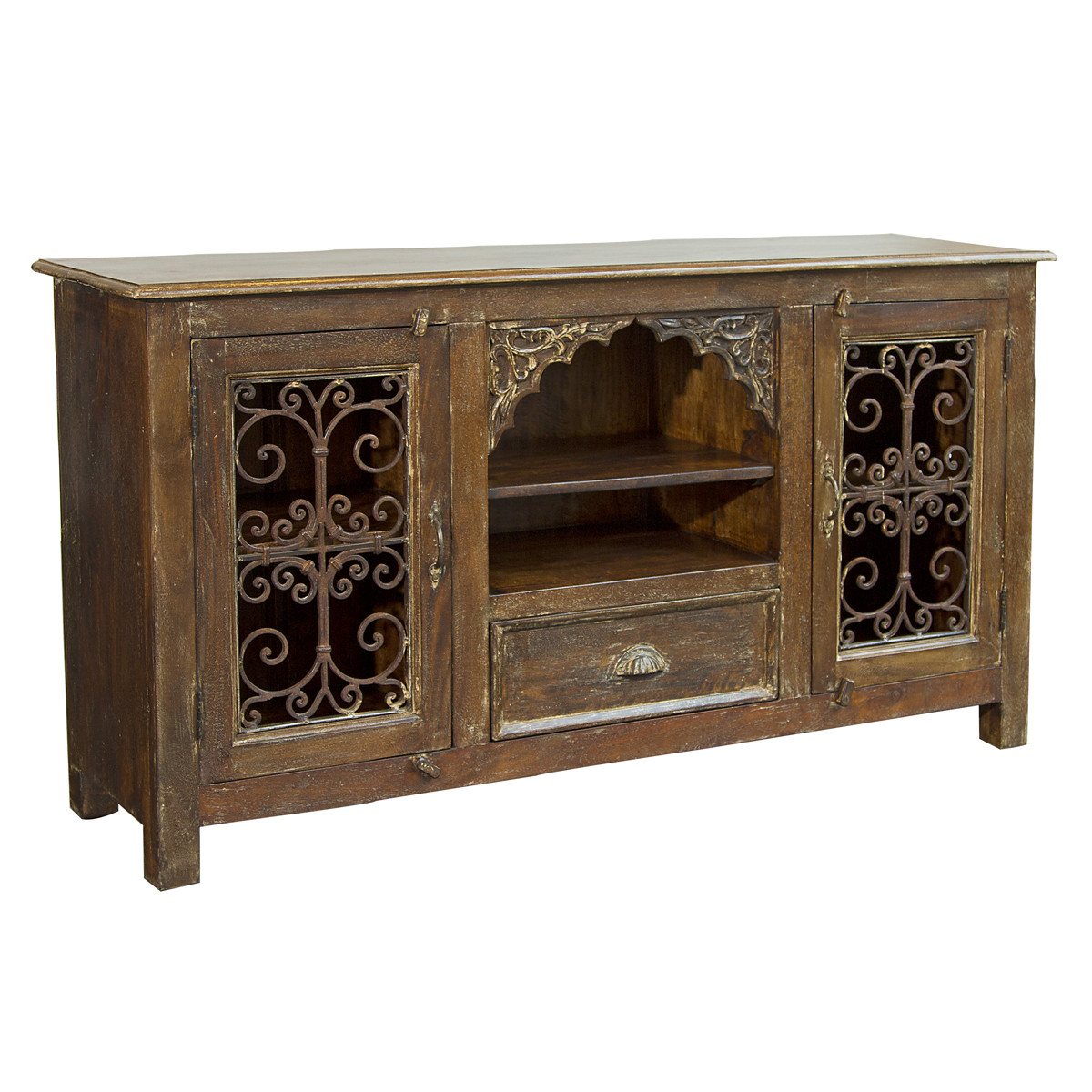 Wood And Iron Tv Stand