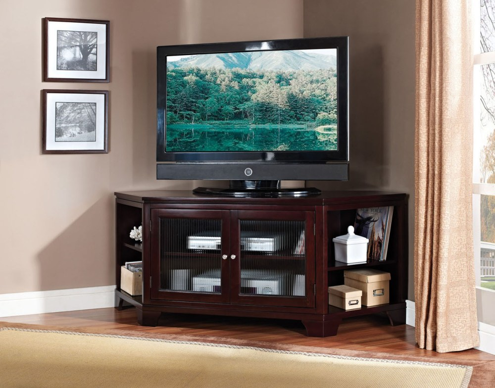 Wood Corner Tv Stand With Mount