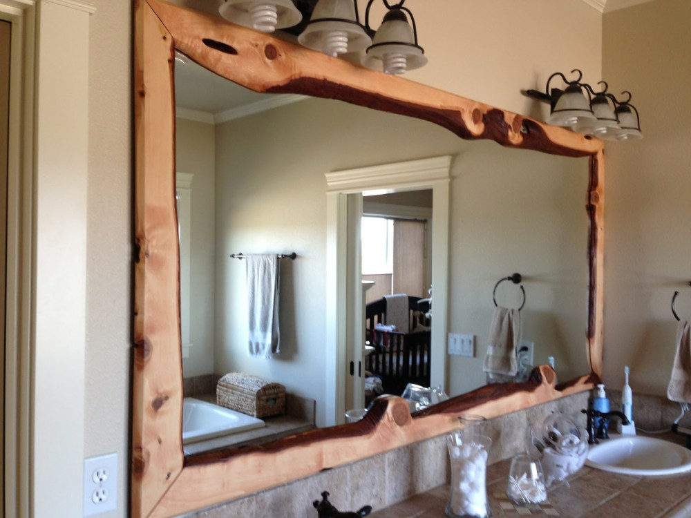 Wood Frame Bathroom Mirror