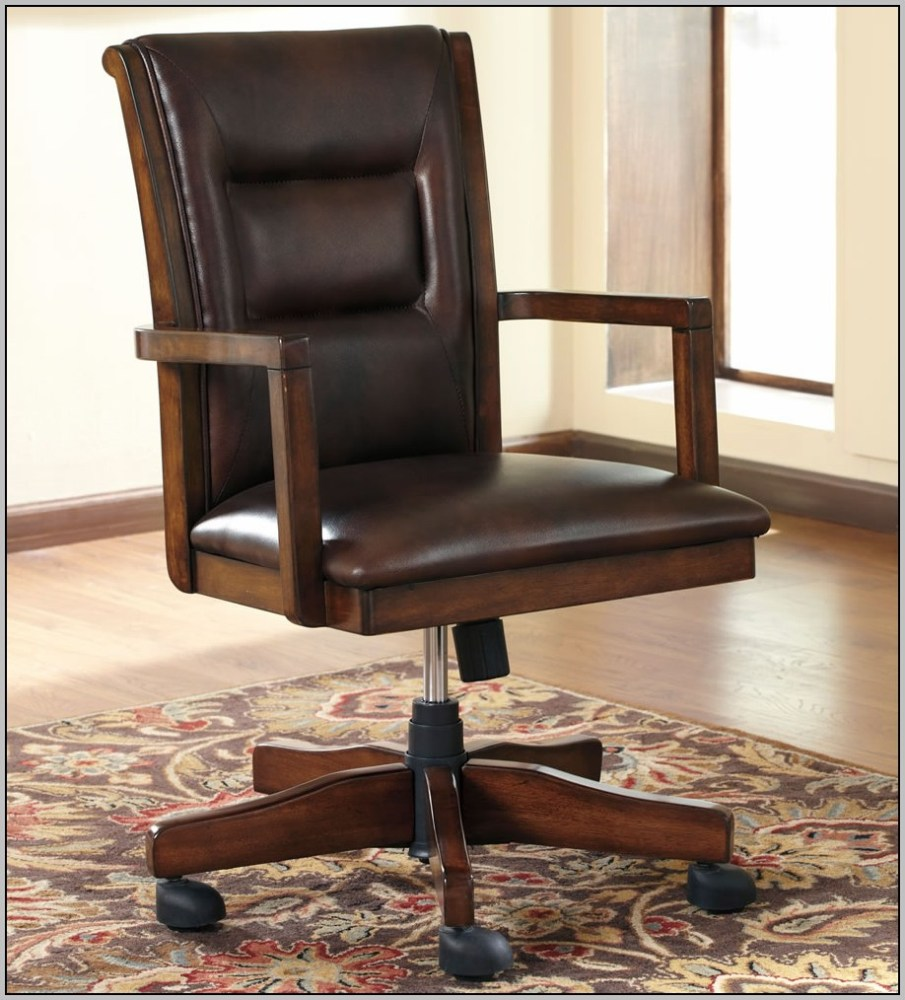 Wood Office Chairs With Casters