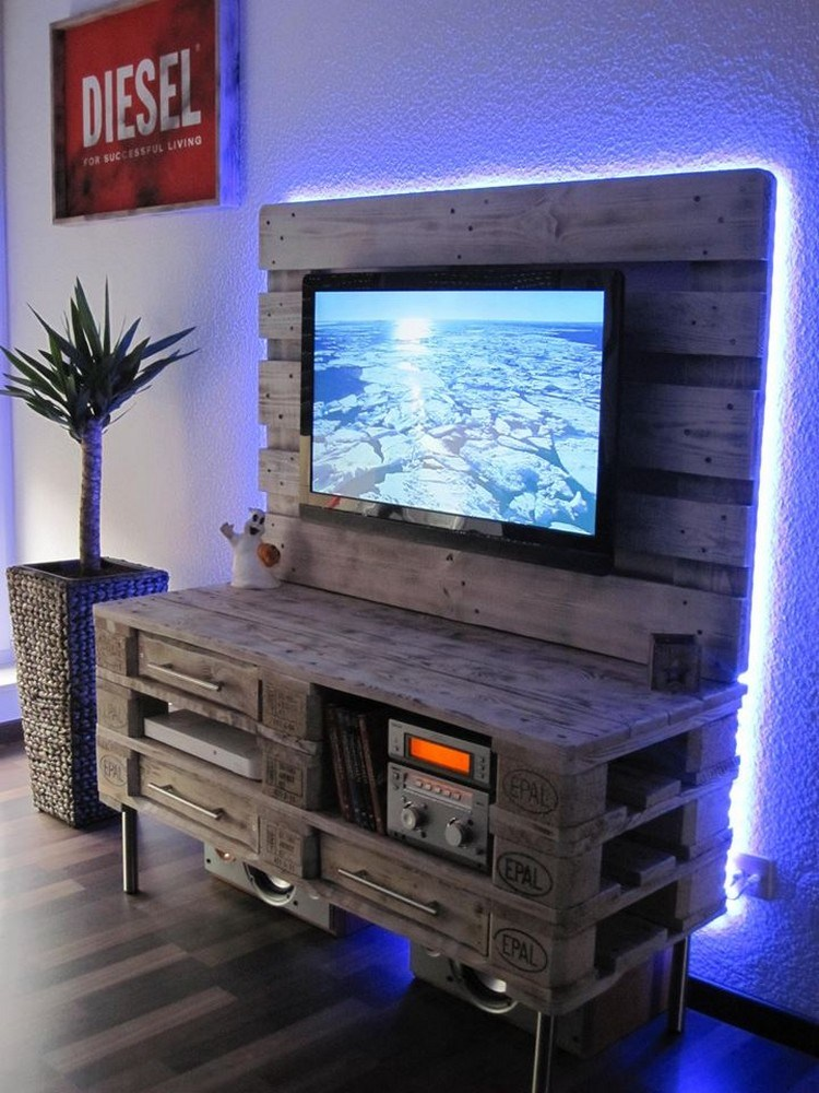 Wood Pallet Tv Stand Plans