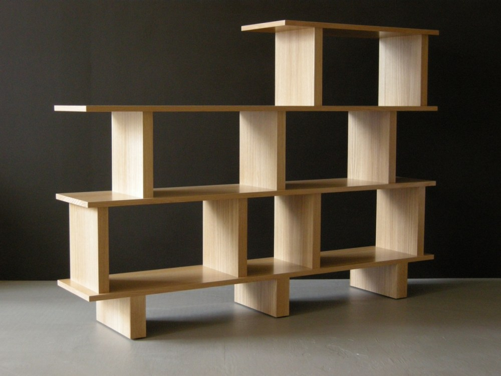 Wood Room Divider Shelves