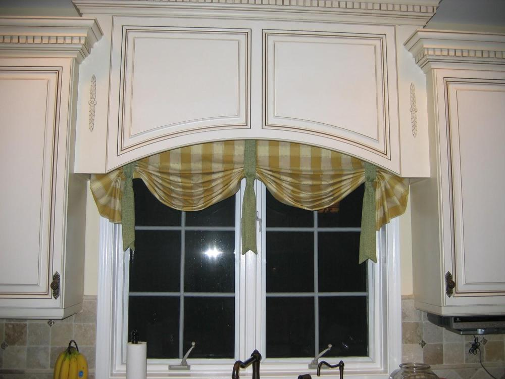 Wood Valance Over Kitchen Window