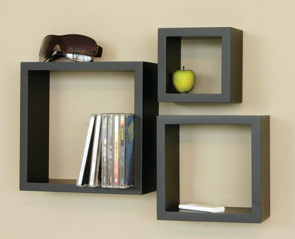 Wooden Floating Box Shelves