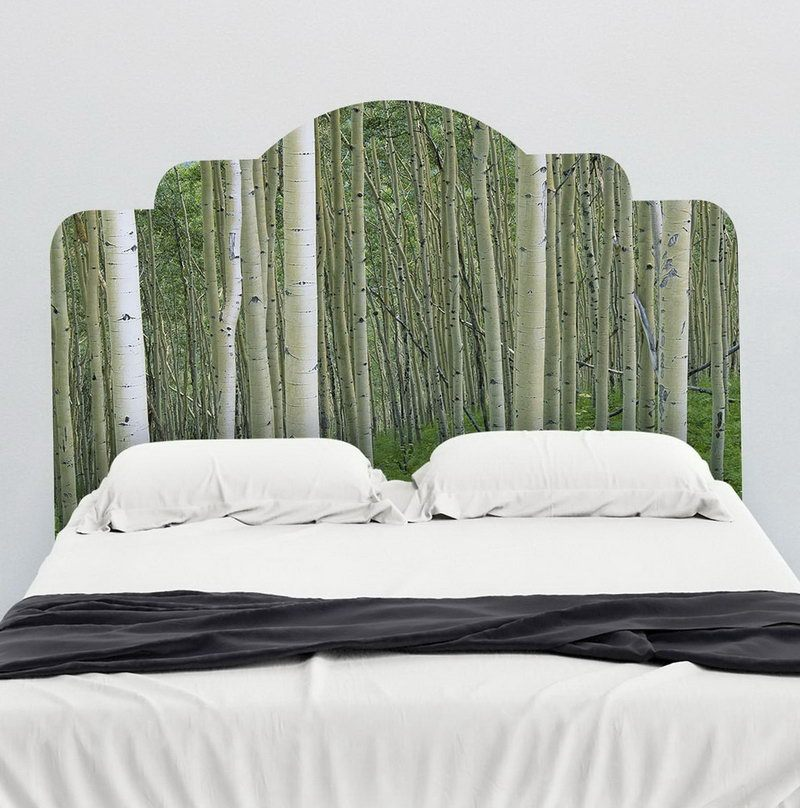 Wooden Headboard Wall Decal