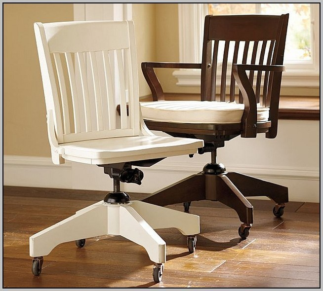 Wooden Office Chair With Wheels