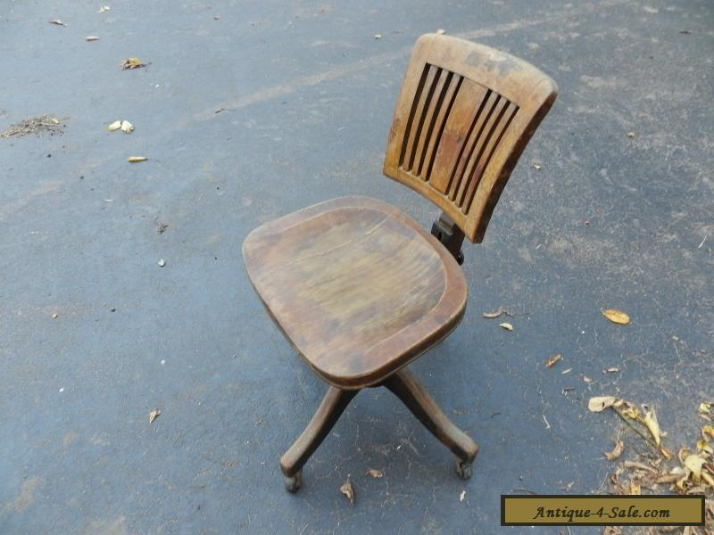 Wooden Rolling Office Chair