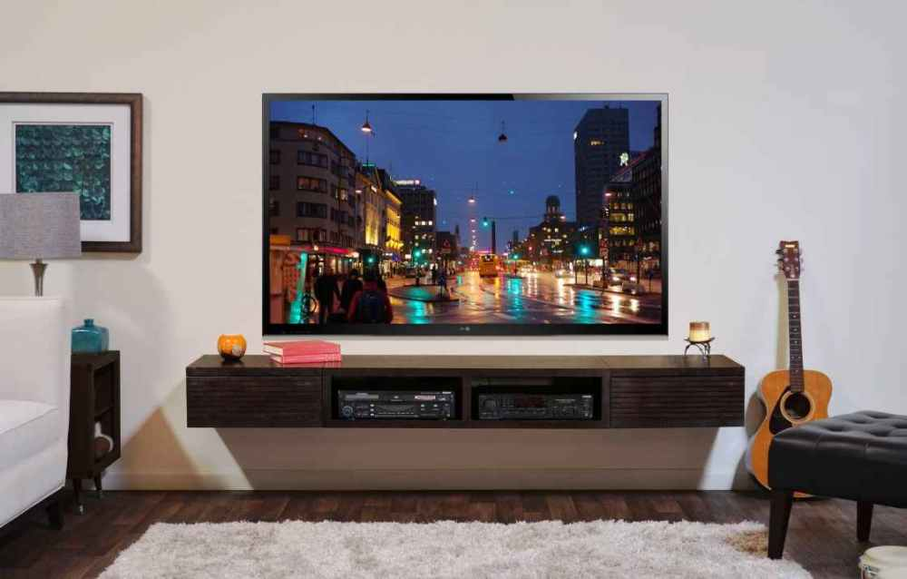 Wooden Tv Stand With Mount