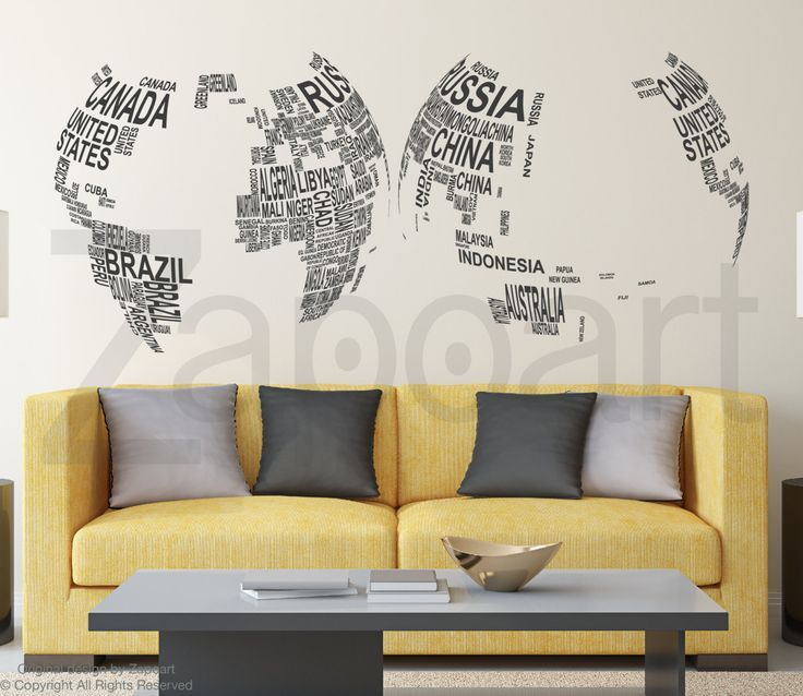 World Globe Wall Decal