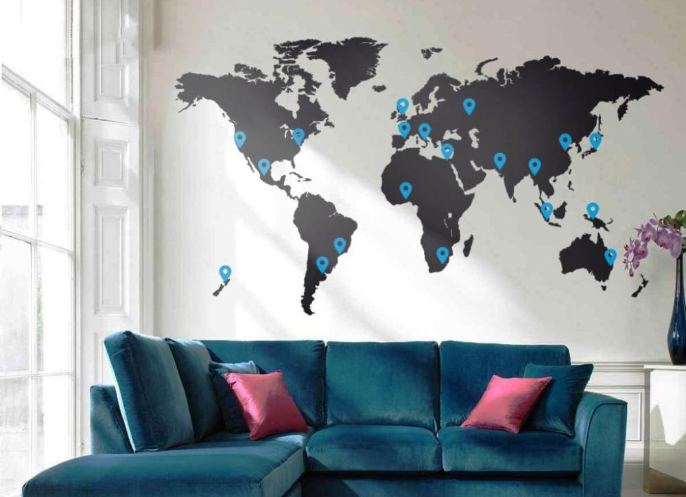 World Map Wall Decal Nursery
