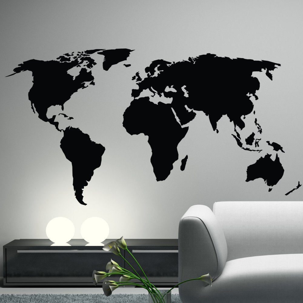 World Wall Map Decal