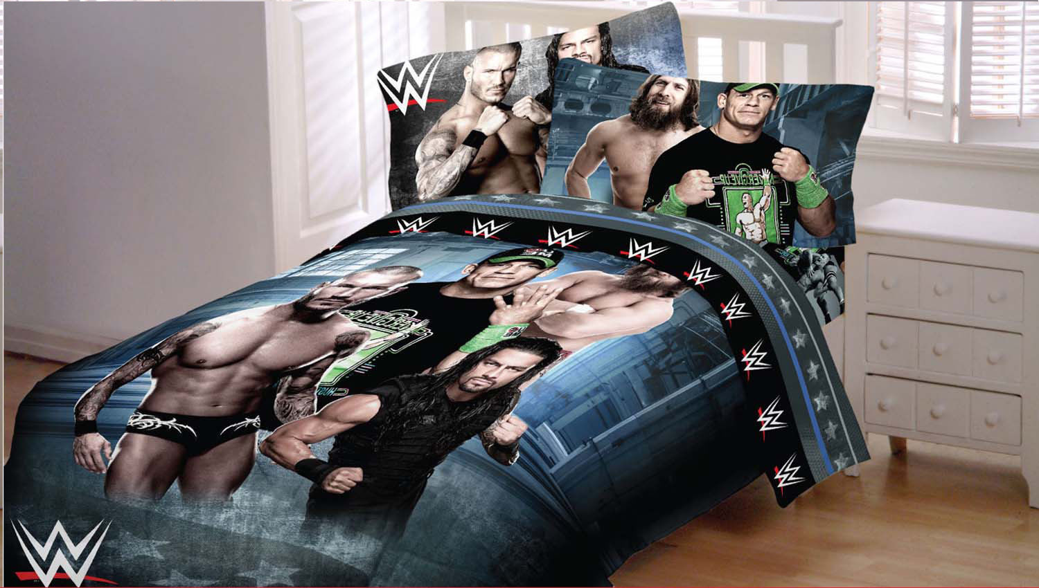 Wwe Comforter Set Full Size
