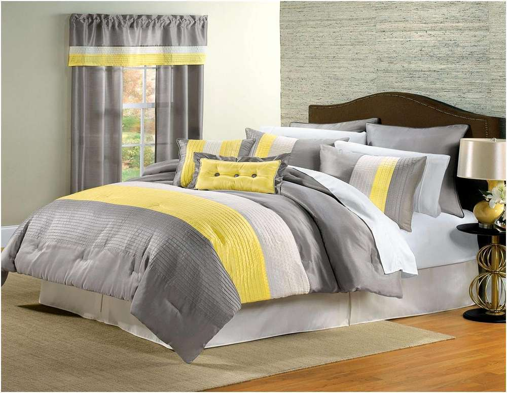 Yellow And Black Comforter Sets