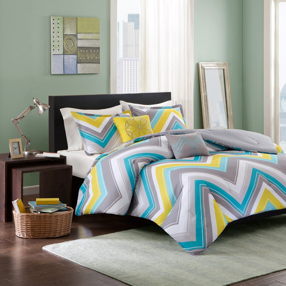 Yellow And Blue Comforter Sets