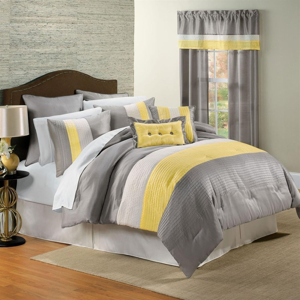 Yellow And Gray Comforter Sets