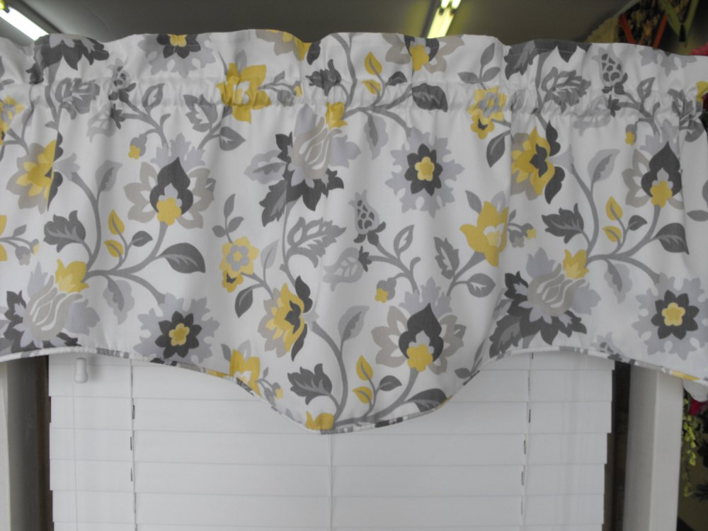 Yellow And Gray Valance
