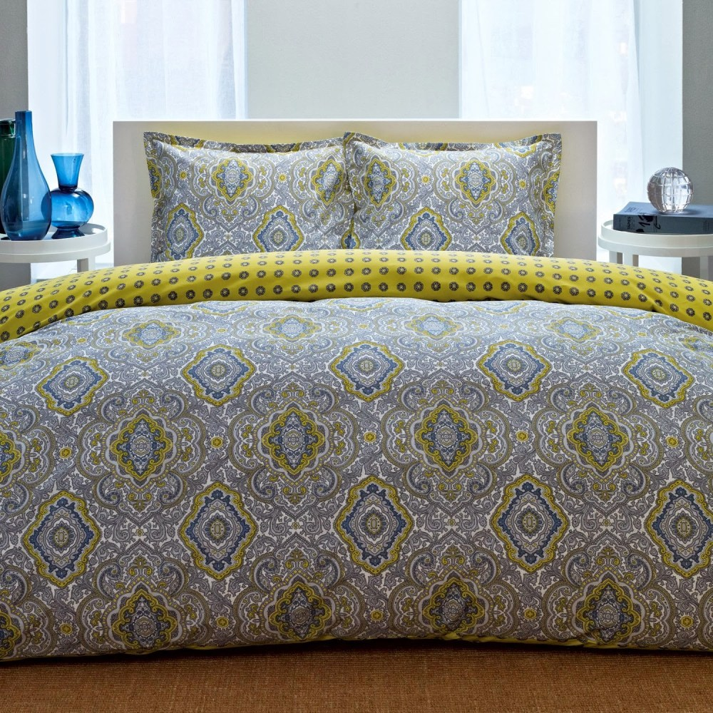 Yellow And Grey Comforter Sets Full