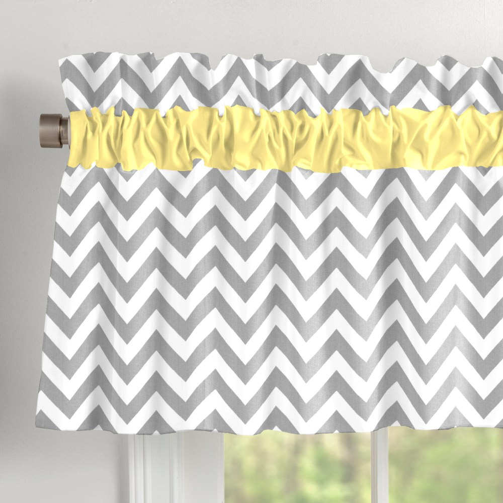 Yellow And Grey Valances
