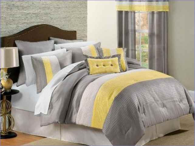 Yellow Black And White Comforter Sets