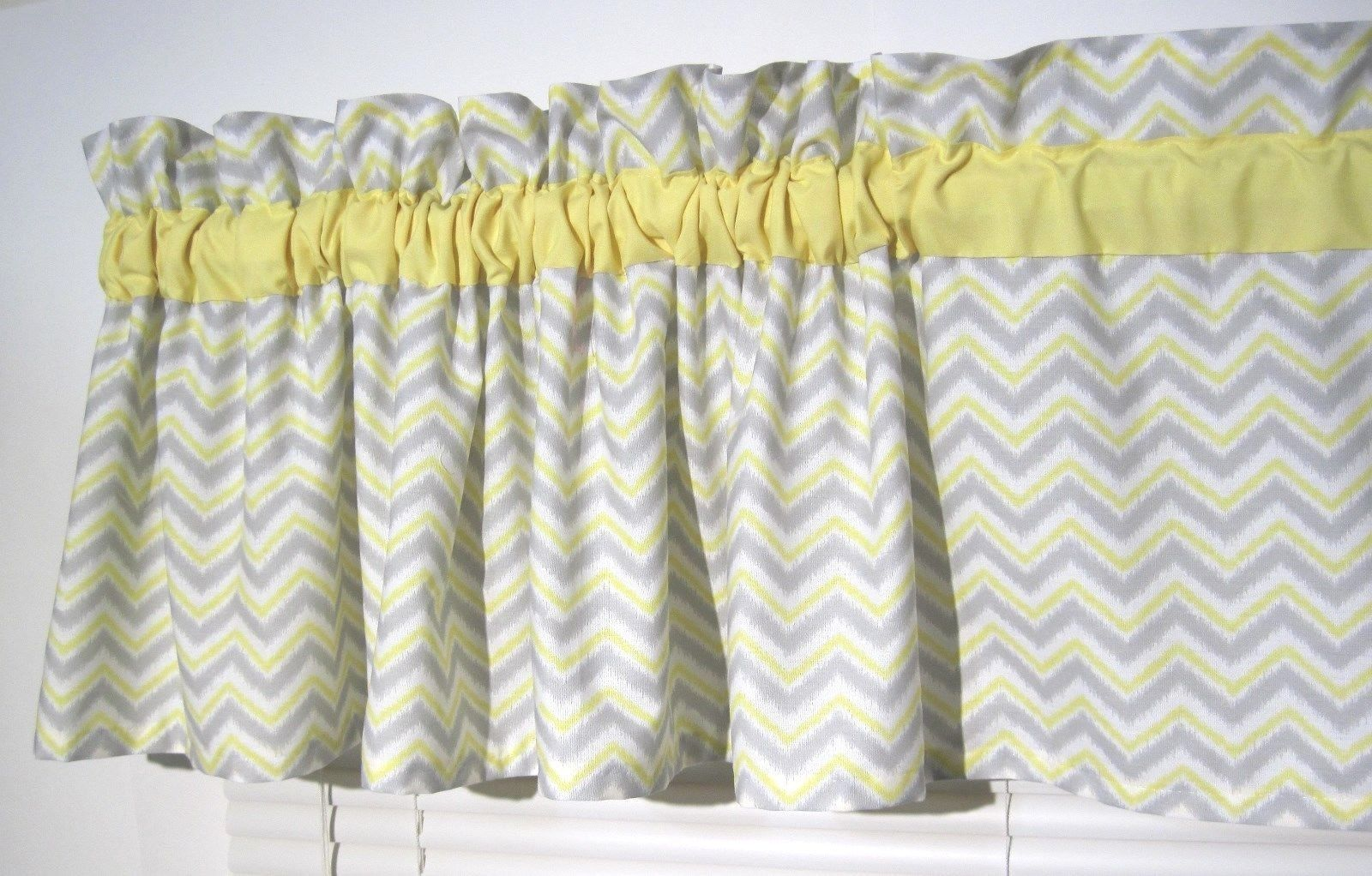 Yellow Chevron Window Valance