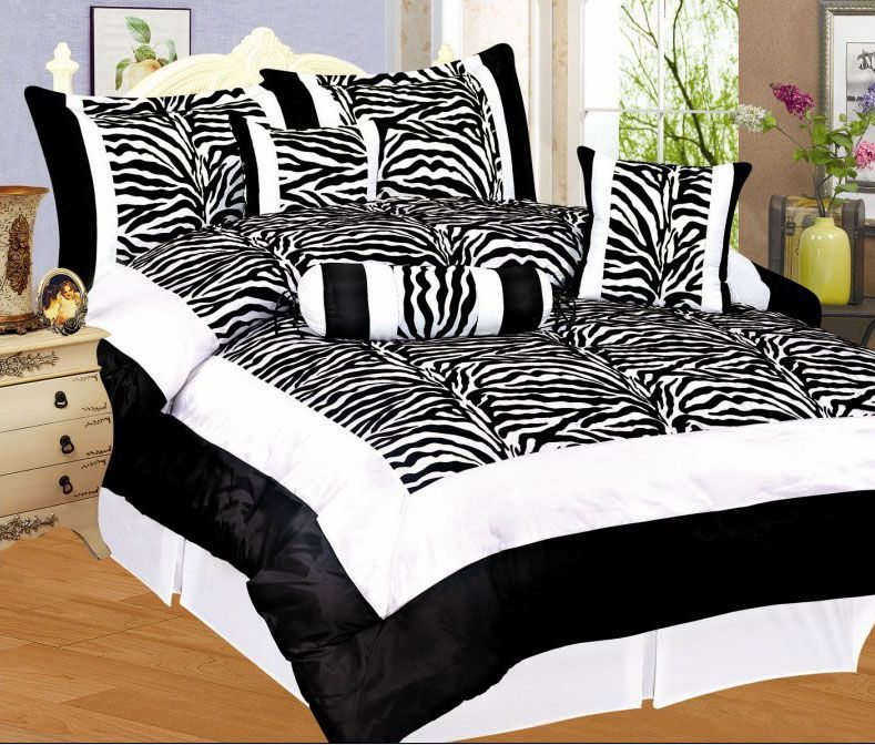 Zebra Comforter Set Full