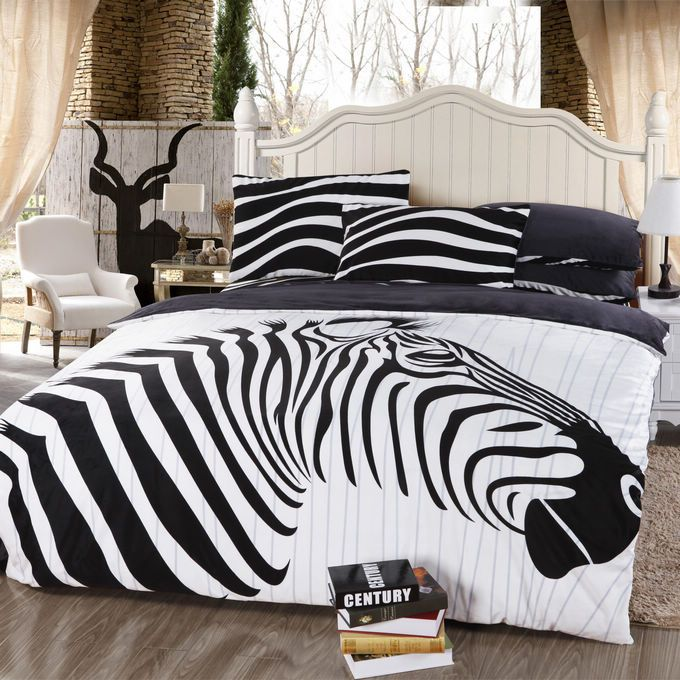 Zebra Comforter Set Queen