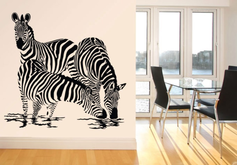 Zebra Stripe Wall Decals