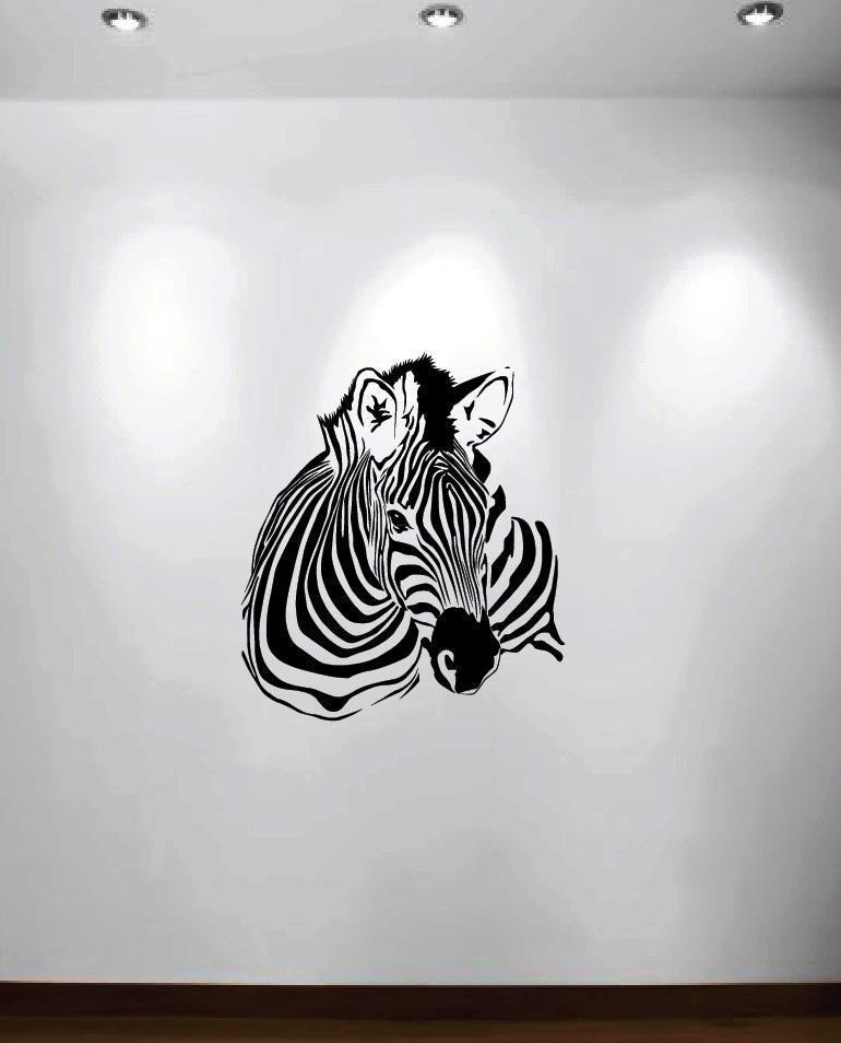 Zebra Wall Decals Removable