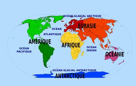 Continents, océans