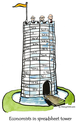 Economists in Spreadsheet Tower