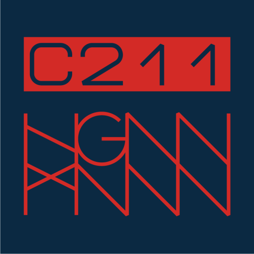 C211: BRICKS back label navy