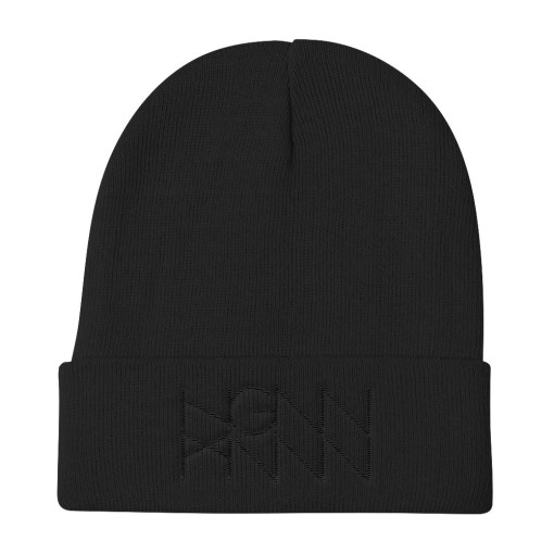 H024: DARK KNIT (BEANIE) black