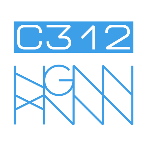 C312: RIPPED back logo - white