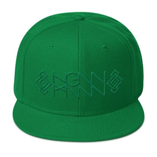 H031: EMERALD KNOT (SNAPBACK) kelly green