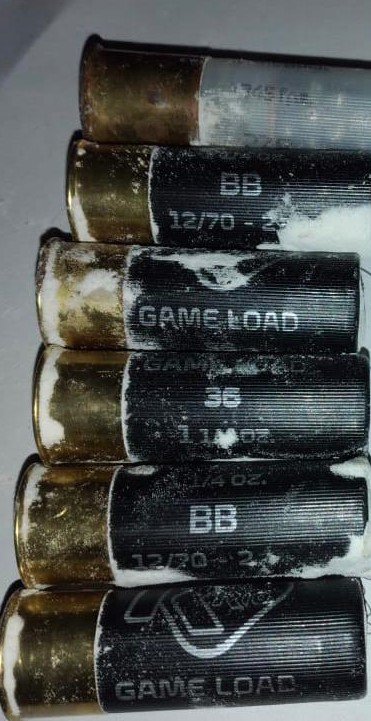 The live ammunition rounds confiscated by the police in Moraballi Creek, Essequibo River