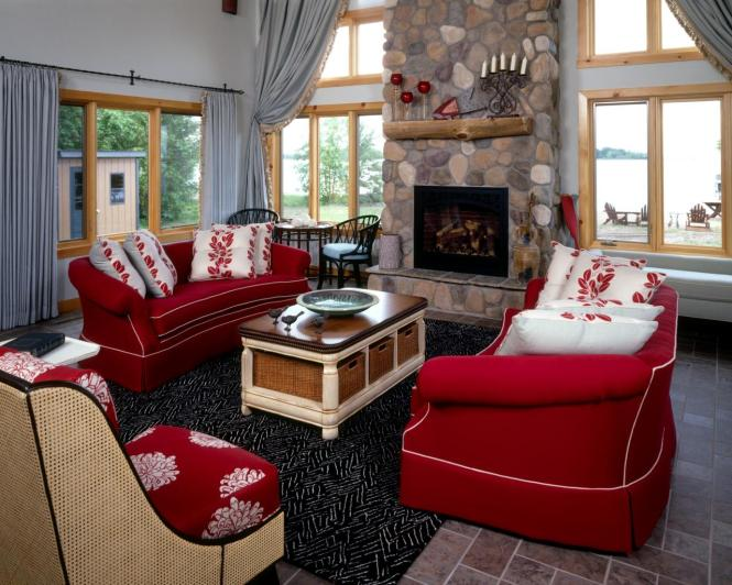Red Living Room Accent Chairs