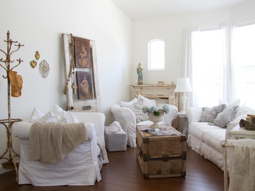 Shabby Chic Living Rooms   HGTV Shop This Look