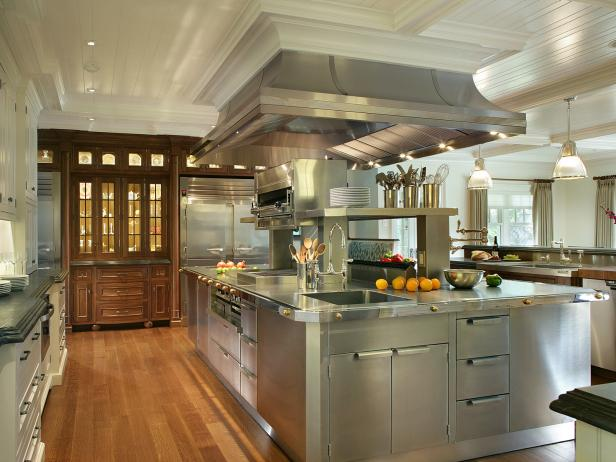 Stainless Steel Kitchen Cabinets HGTV Pictures Amp Ideas HGTV