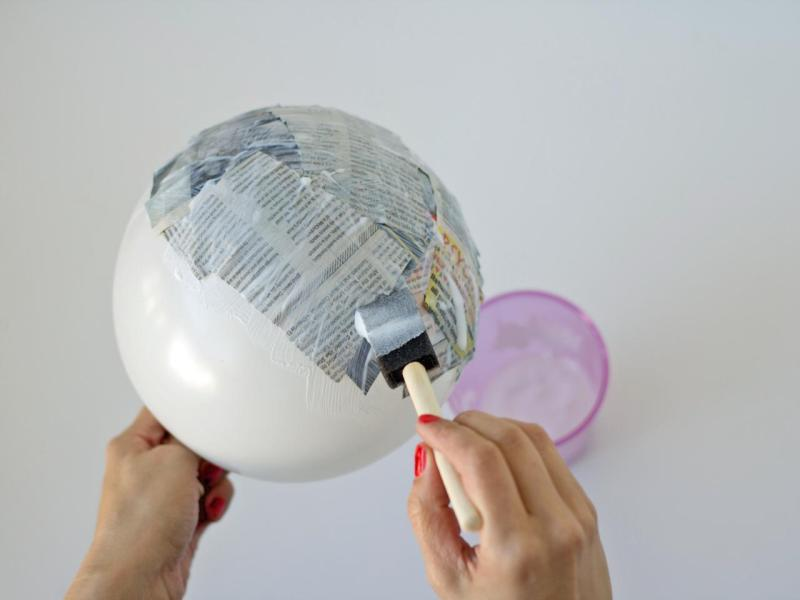 How to Make Paper Mache Bowls   HGTV Apply ModPodge