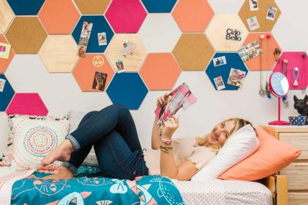 11 Ways to Make the Most of Your Dorm Room   HGTV s Decorating     11 Ways to Designate Different Rooms in Your Dorm Room