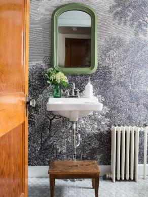 How to Install Wallpaper in a Bathroom   HGTV Installing Wallpaper in a Bathroom