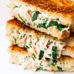 Quick and easy chicken salad sandwich melt recipe! This easy sandwich recipe is delicious and ready in 10 minutes - perfect grilled cheese sandwich when you're hungry and want something quick and tasty!