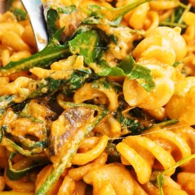 Creamy Pasta With Pesto & Arugula | Vegetarian & Easy