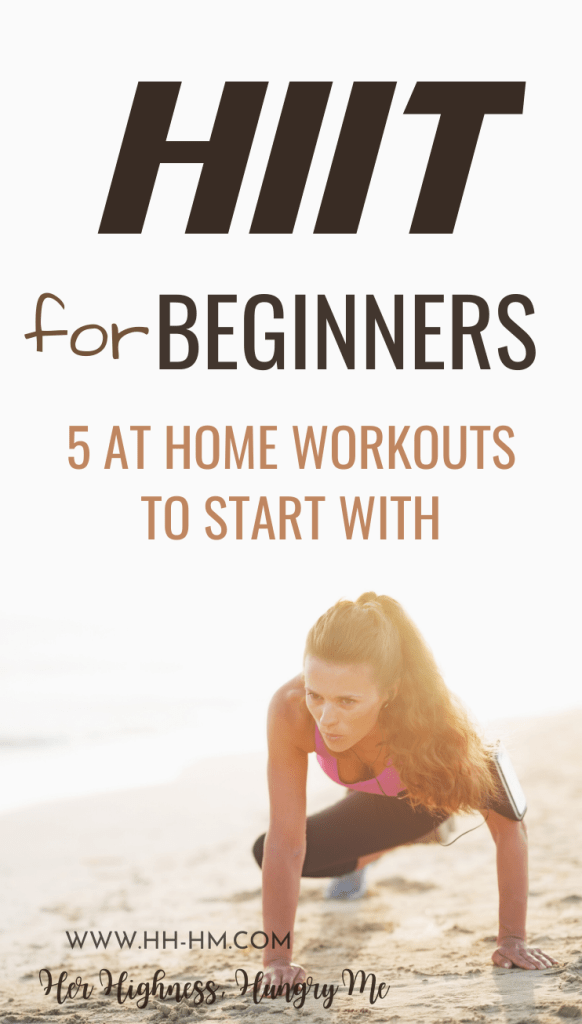 HIIT Workouts for beginners to lose weight! These are 5 beginner-friendly high intensitiy interval training routines that you can do at home or at the gym. HIIT is a type of exercise that allows you to burn fat even after you've done. Usually it's a good idea to add 1-2 HIIT workouts to your exercise routine, especially if you've hit a plateau or have a lot of belly fat to lose. Make these a part of your workout schedule and you'll improve your endurance and strength.