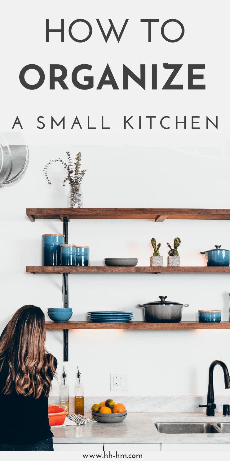 Kitchen organization tips! How to organize a small kitchen + more home organization ideas and tips for beginners!