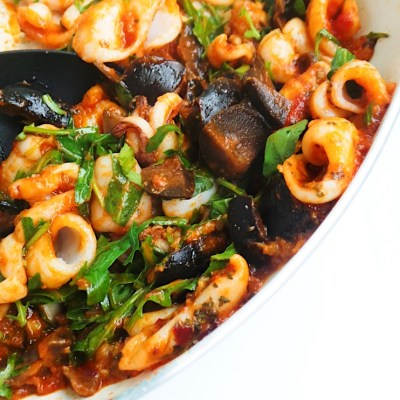 Keto Garlic Squid Recipe