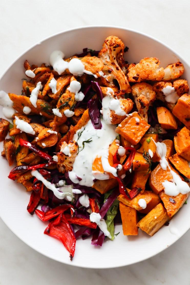 roasted veg meal prep bowls