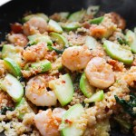 This 15-minute spicy shrimp and quinoa recipe is a super easy healthy dinner idea that is fast, simple and delicious.