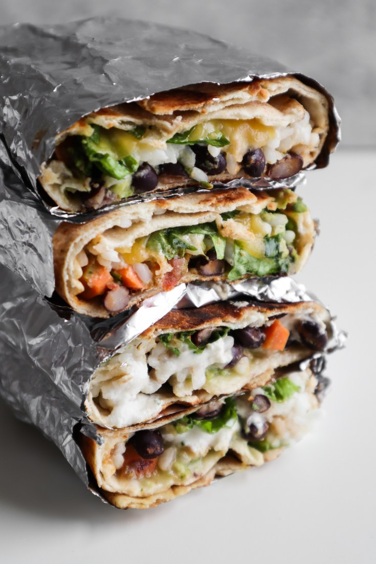 Try this tasty healthy meatless dinner idea, it's a super easy vegan burrito recipe!