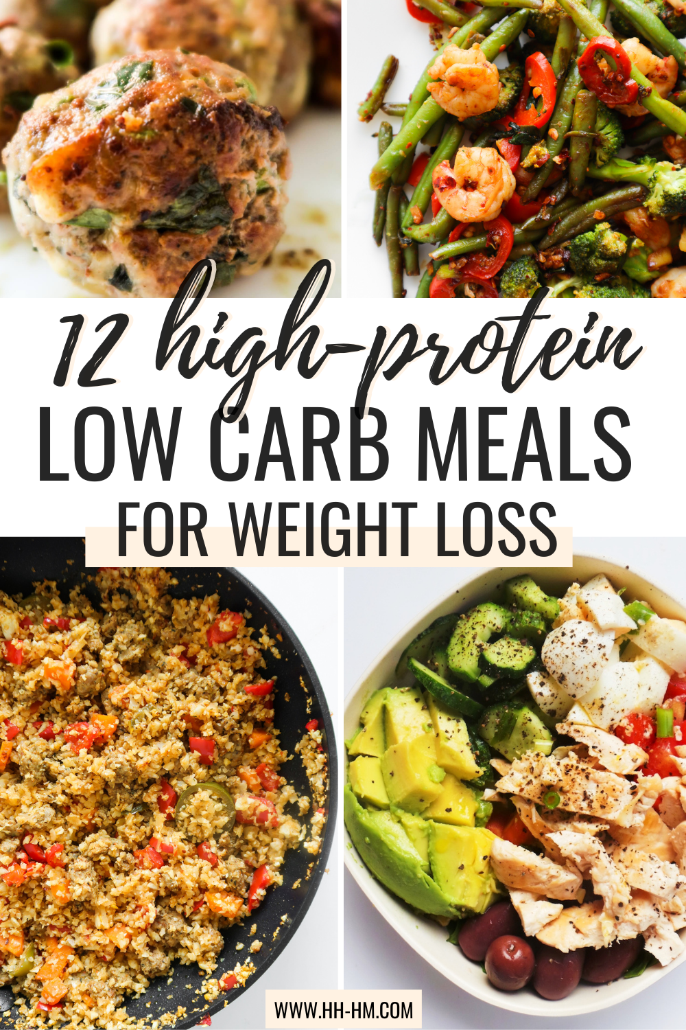 If you're looking for some quick and easy low carb high protein meals to help you lose weight and reach your fitness goals, you've just found them. This is a collection of super simple weight loss meals and healthy recipes for dinner, lunch and some for breakfast.